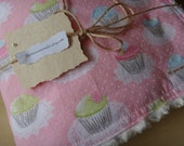 blanket with cupcakes