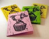 Cupcake Bird Card