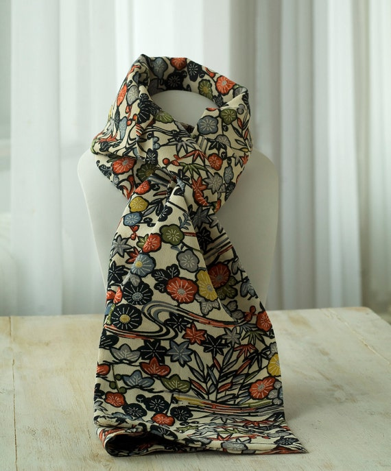 Kimono silk scarf