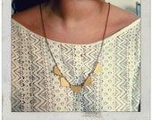 Handmade Yellow bunting Flag Necklace
