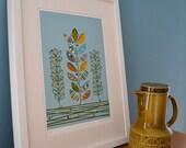 Limited edition 'stem plants' print