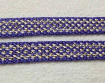 "Cedany -  Hand Woven Inkle Trim (1/2"" wide)"