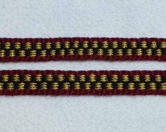 "Egelina - Hand Woven Inkle Trim (3/8"" wide)"