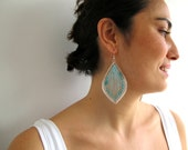 Gypsy Earrings with Blue threads and beads