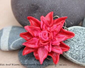Fun Big Red Flower Ring