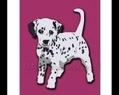 "Dalmatian dog prints. Custom Dog theme. Original wall art artwork dogs picture for kids room nursery decor. 8x10 "" by ART ingredients."
