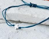 W0006-S-BL // Mini Cross Bracelet
