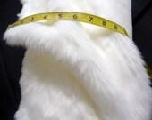 White Faux Fake Fur Fabric Plush Long Hair 1 Half Yd 60in w