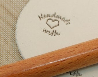 Handmade With Love - Personalization Stamp For Metal Clay And Polymer Clays