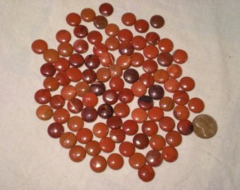 rusty red agate rounds