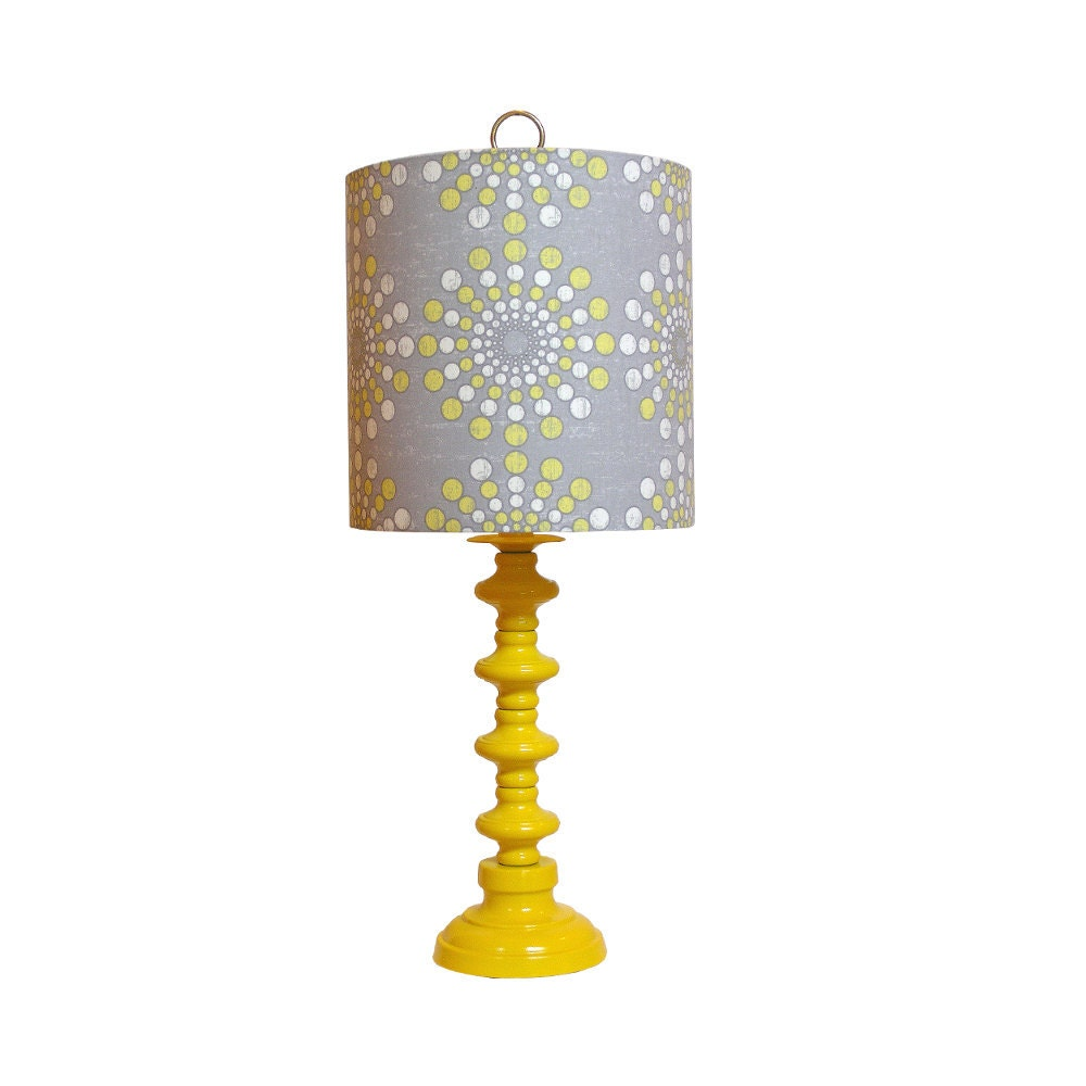 Coral lamp shade - Vintage Yellow Lamp Updatedcustom Constructed By Cruelmountain