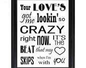 Crazy in Love Beyonce Jay z 8x10 print song lyrics