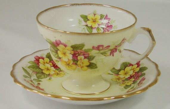 Antique Tea Cup Saucer Set Royal Dover Bone China Made in England