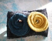 Felted and boiled wool  Brooch