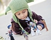 Handmade Crocheted Star Wars Yoda Hat