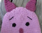 Handmade Crocheted Piglet Hat