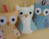 Custom Stuffed Owl Toy - Baby Plushie Toy - Fleece Owl Toy