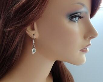Silver Leaf Earrings - Simple Everyday Earrings - Minimalist Jewelry