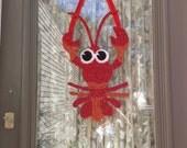 Claude the Crawfish Door Decoration