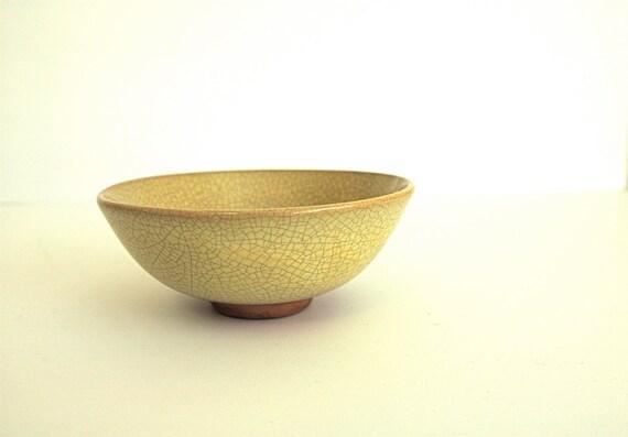 Vally Werner California Crackle Glaze Bowl Modernist Studio