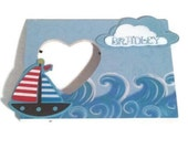 Sail Away Personalized Childrens Boat and Cloud Frame