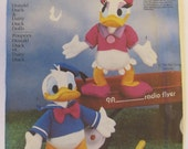 "Donald Duck and Daisy Duck 18"" Doll Pattern - Walt Disney Simplicity 7636"