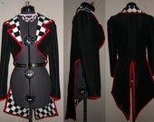Deck of Cards Tailcoat with Necklace and Earring Set