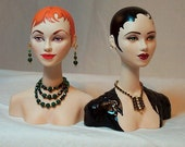 DOLL  DISPLAY BUST -  head for jewelry, hats, wigs and repainting ooak dolls