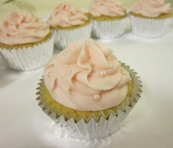 Pink Champagne Cupcakes (1 dozen)