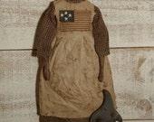 Primitive Folk Art Americana 4th of July Extreme Liberty Doll E-Pattern  Sweetpeas Primitives