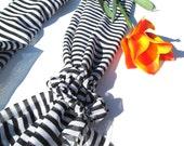 Infinity Scarf-Black and White Stripe