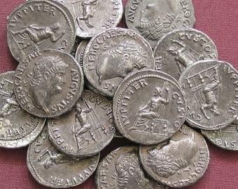 Rome Nero Denarius 54-68 AD tin replica coin