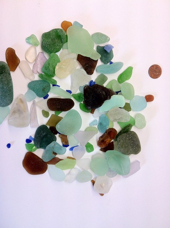 Assorted Sea Tumbled Glass (23)