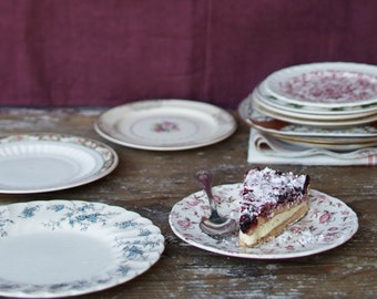 Not Your Grandma's Vintage Dessert Plates (set of 4)