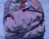 Pink Minky and Fairy Stripes Print OS AIO Cloth Diaper