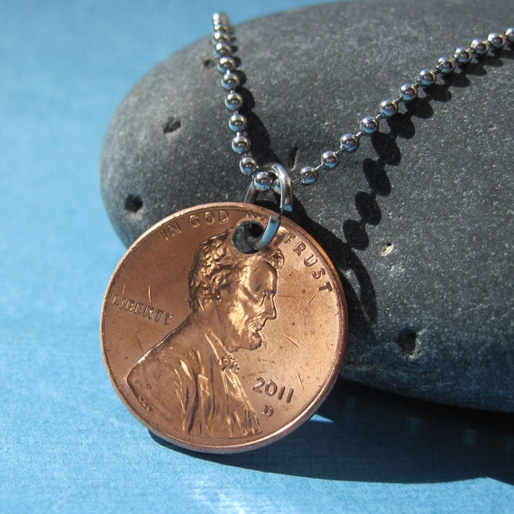 Penny Necklace or Key Chain - USA Coin Charm
