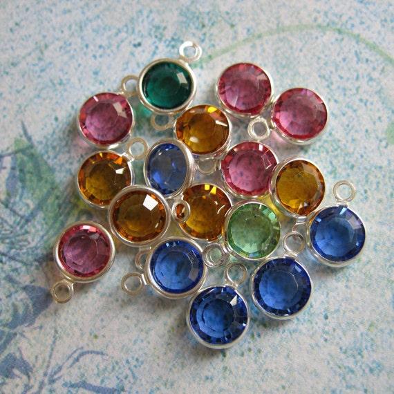 Add a Swarovski Crystal Birthstone Charm to your Mommy Necklace or Key Chain