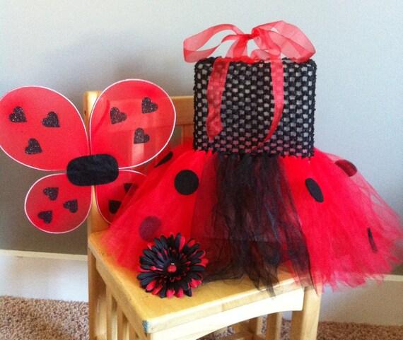 Ladybug Tutu Dress Costume Set