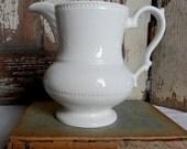 ironstone pitcher creamer