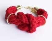 Double Rope Bracelet in red