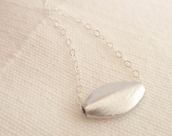 Ellipse Sterling silver necklace-simple everyday jewelry