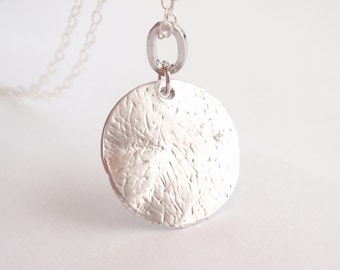 Disc Sterling silver necklace-simple everyday jewelry