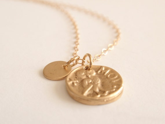 Coin 14K gold filled necklace-simple everyday jewelry