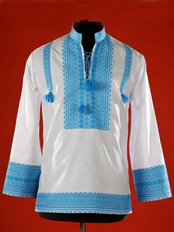 Vyshyvanka ukrainian embroidered shirt mens