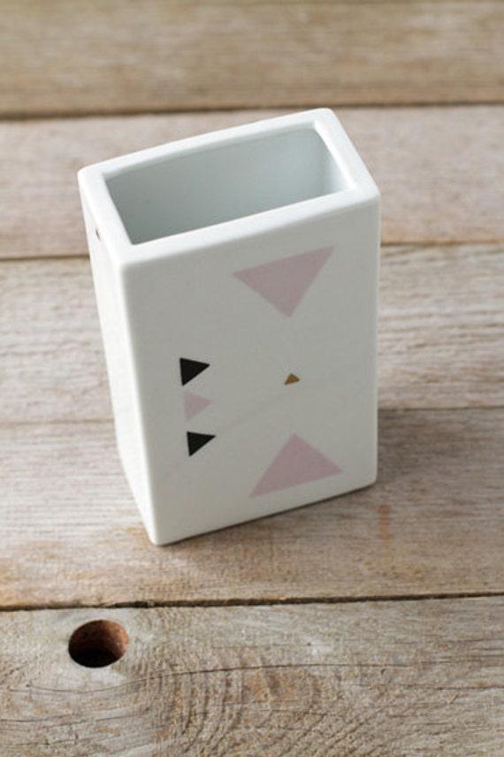 Geometric triangles vase