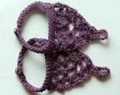 Purple Crochet Barefoot Gypsy Sandal, Bohemian, Beach