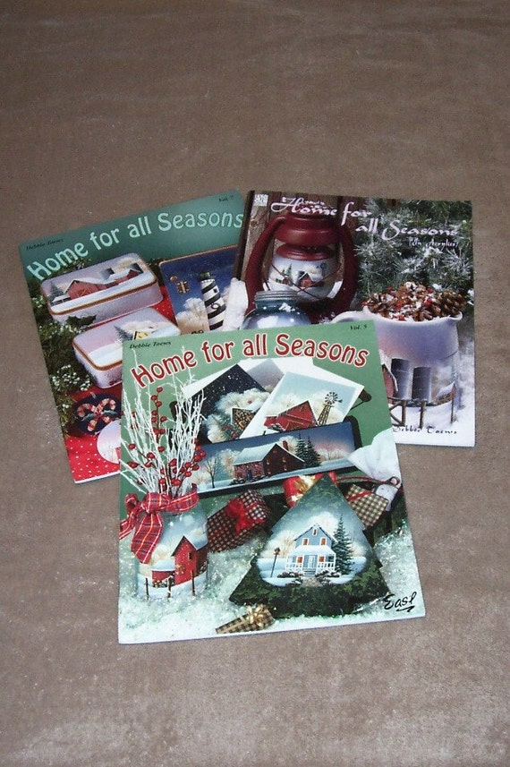 Debbie Toews Painting Instruction Books..Three Books..Home for all Seasons Vol. 1, Vol. 5 and Vol. 7