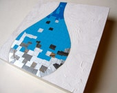 Drop - Tiny Pieces Series - Original Mixed Media Painting - 8in x 8in