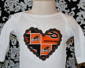 Sports Team Onesie. Customized for any Sports Team, Oregon State Beavers, Baby Shower or Birthday Gift, Onesie or Toddler T-Shirt