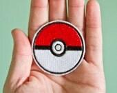 Pokeball -- Embroidered Iron-on Pokemon Patch